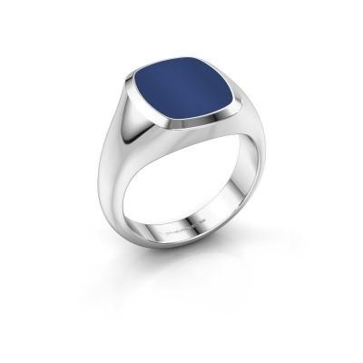 Foto van Zegelring Benjamin 2 950 platina lapis lazuli 13x11 mm