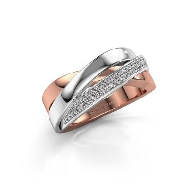 Foto van Ring Katherina 585 rosé goud lab-grown diamant 0.255 crt