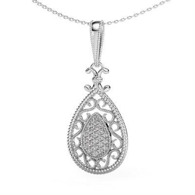 Pendentif Tammie 925 argent diamant synthétique 0.27 crt