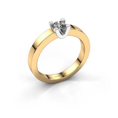 Foto van Verlovingsring Sara 1 585 goud diamant 0.25 crt