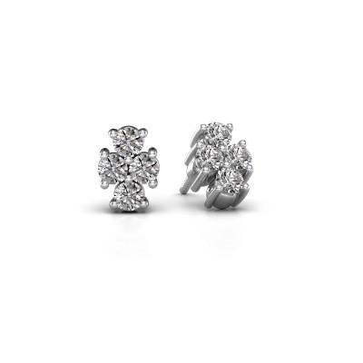 Foto van Oorstekers Richelle 585 witgoud diamant 0.80 crt
