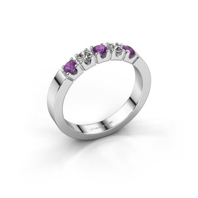 Picture of Engagement ring Dana 5 585 white gold amethyst 3 mm