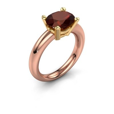 Ring Janiece 585 rose gold garnet 10x8 mm