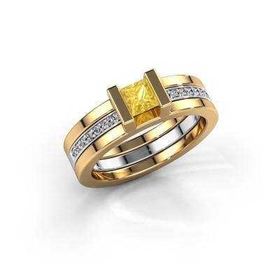 Bild von Ring Desire 585 Gold Gelb Saphir 4 mm