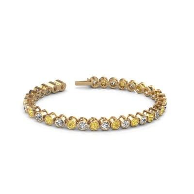 Picture of Tennis bracelet Allegra 375 gold yellow sapphire 4 mm