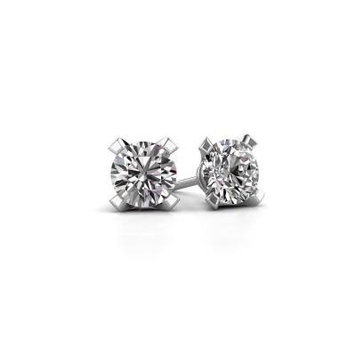 Foto van Oorstekers Isa 585 witgoud diamant 0.10 crt