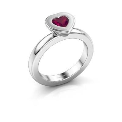 Stapelring Eloise Heart 925 zilver rhodoliet 5 mm