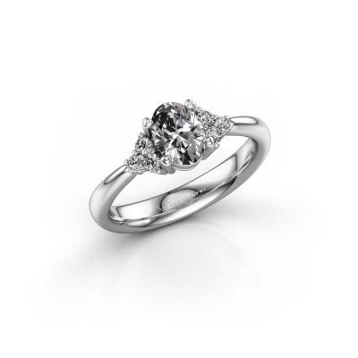 Verlovingsring Aleida OVL 1 950 platina lab-grown diamant 0.93 crt