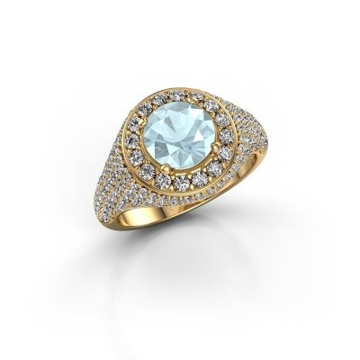 Picture of Ring Dayle 375 gold aquamarine 7 mm