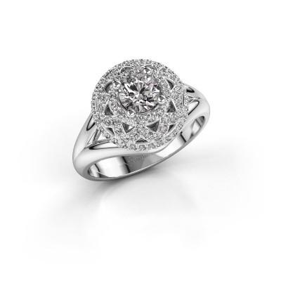 Foto van Ring Leonora 925 zilver diamant 0.88 crt