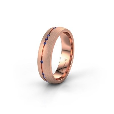 Wedding ring WH0166L25A 375 rose gold sapphire ±0.20x0.07 in