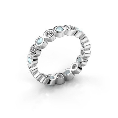 Foto van Aanschuifring Edwina 2 375 witgoud diamant 0.54 crt