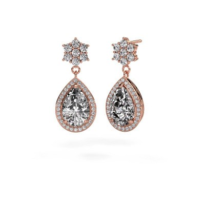 Foto van Oorhangers Era 585 rosé goud diamant 7.22 crt