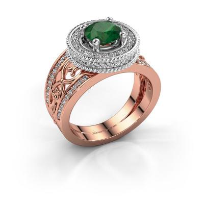 Ring Joy 585 rose gold emerald 6.5 mm
