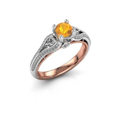Picture of Engagement ring Nikita 585 rose gold citrin 5 mm