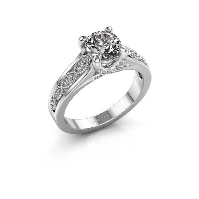 Aanzoeksring Clarine 950 platina lab-grown diamant 1.16 crt