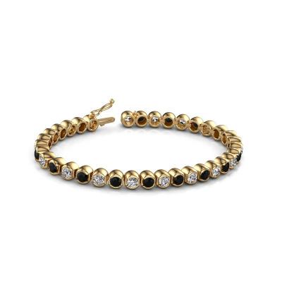 Picture of Tennis bracelet Bianca 4 mm 375 gold black diamond 9.650 crt