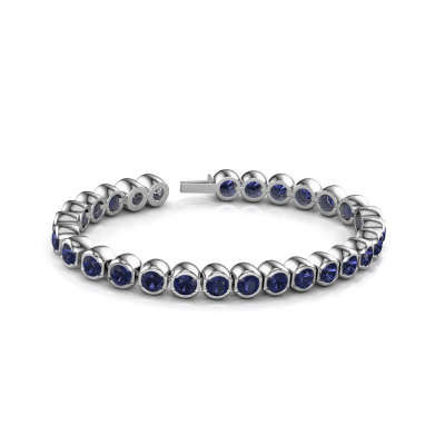Picture of Tennis bracelet Bianca 5 mm 585 white gold sapphire 5 mm