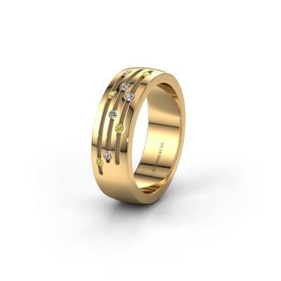 Trouwring WH0134L26B 585 goud gele saffier ±6x2 mm