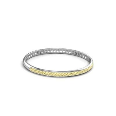 Foto van Armband Emely 5mm 585 witgoud gele saffier 1.1 mm