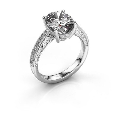 Picture of Engagement ring Shonta OVL 585 white gold diamond 0.93 crt