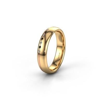 Vriendschapsring WH2144L34A 585 goud zwarte diamant ±4x1.7 mm