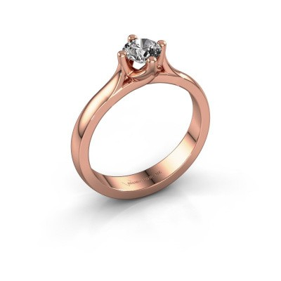 Verlovingsring Eva 585 rosé goud diamant 0.40 crt