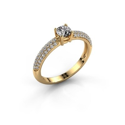 Picture of Engagement ring Marjan 375 gold zirconia 4.2 mm