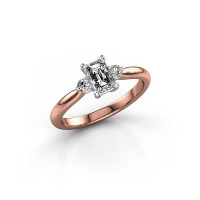 Verlovingsring Lieselot EME 585 rosé goud zirkonia 6x4 mm