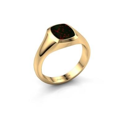 Foto van Pink ring Benjamin 1 585 goud heliotroop 10x8 mm
