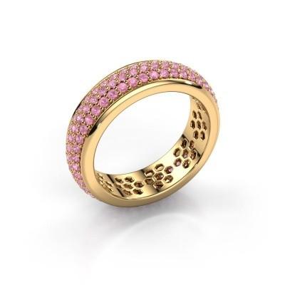Ring Tara 375 Gold Pink Saphir 1.3 mm