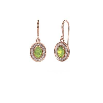 Picture of Drop earrings Layne 1 375 rose gold peridot 6.5x4.5 mm