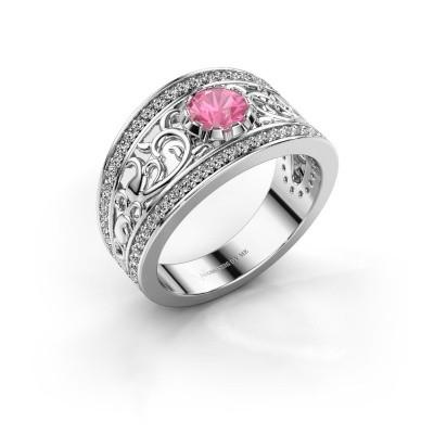 Ring Marilee 925 zilver roze saffier 5 mm