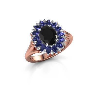 Foto van Verlovingsring Lidia 585 rosé goud zwarte diamant 1.50 crt