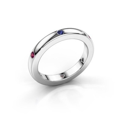 Stackable ring Charla 950 platinum sapphire 2 mm