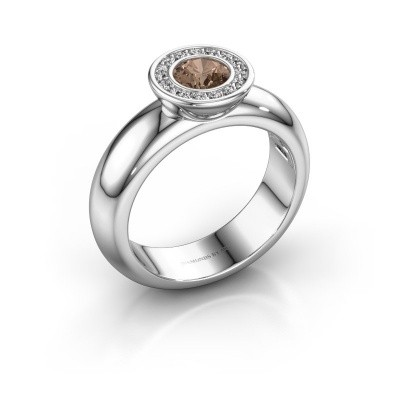 Picture of Stacking ring Anna 585 white gold brown diamond 0.635 crt