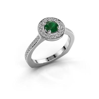 Ring Kanisha 2 925 zilver smaragd 5 mm