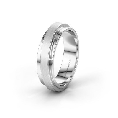 Wedding ring WH2220M16D 585 white gold ±0.24x0.09in
