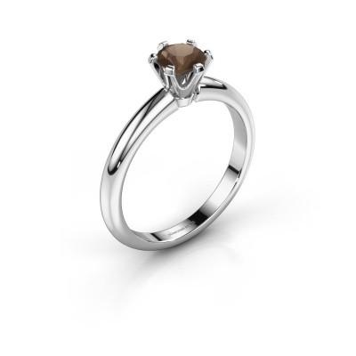 Verlovingsring Tiffy 1 925 zilver rookkwarts 5 mm