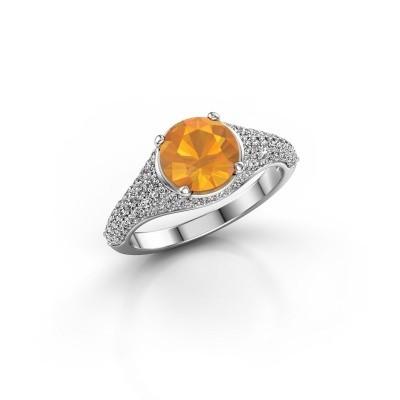 Foto van Ring Lovella 925 zilver citrien 7 mm