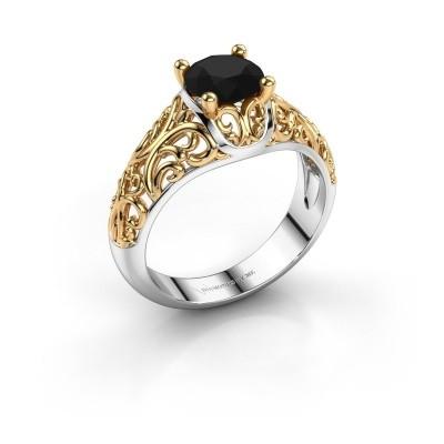 Foto van Ring Mirte 585 witgoud zwarte diamant 1.20 crt