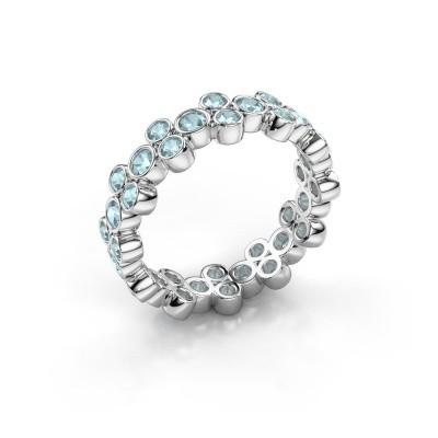 Ring Victoria 950 platina aquamarijn 2.4 mm