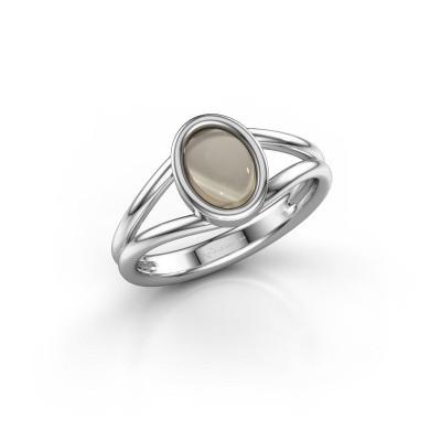 Foto van Ring Lieselotte 925 zilver rookkwarts 9x7 mm
