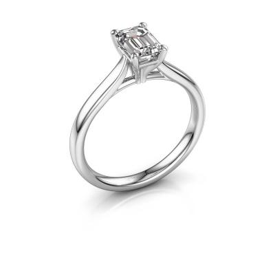 Verlovingsring Mignon eme 1 925 zilver diamant 0.90 crt