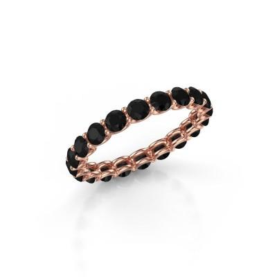 Foto van Ring Kristen 2.9 375 rosé goud zwarte diamant 2.28 crt