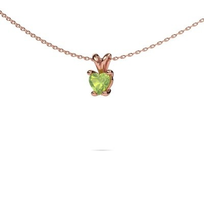 Picture of Necklace Sam Heart 375 rose gold peridot 5 mm
