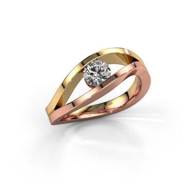 Picture of Engagement ring Sigrid 1 585 rose gold diamond 0.50 crt