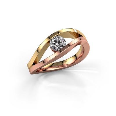 Foto van Aanzoeksring Sigrid 1 585 rosé goud diamant 0.50 crt