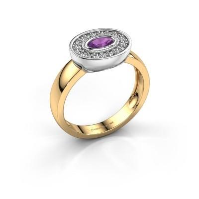Ring Azra 585 gold amethyst 5x3 mm