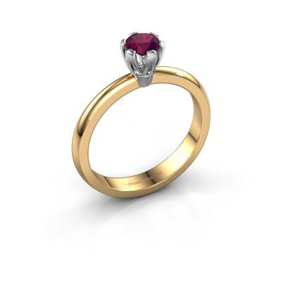 Verlovingsring Julia 585 goud rhodoliet 4 mm